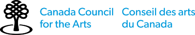 Logo for the Canada Council for the Arts. The words Canada Council for the Arts are displayed in light blue sans-serif letters, with the french translation appearing on the right-hand side. An illustrated logo of a stylized tree with a circle surrounding the trunk is displayed on the left-hand side.