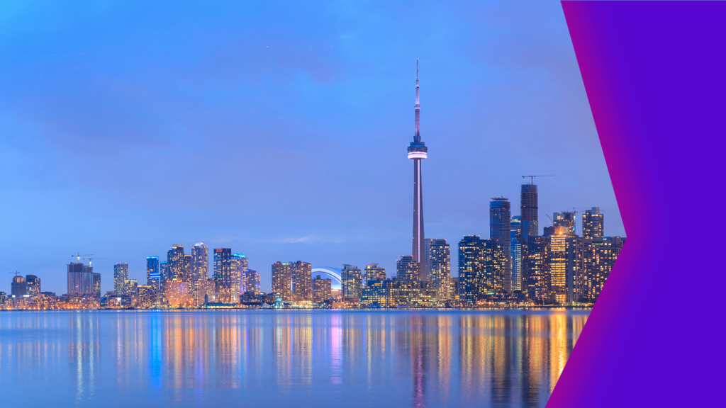 An artistic image of the City of Toronto skyline seen from the water, repressenting the hidden treasures of the Toronto arts and culture scene.