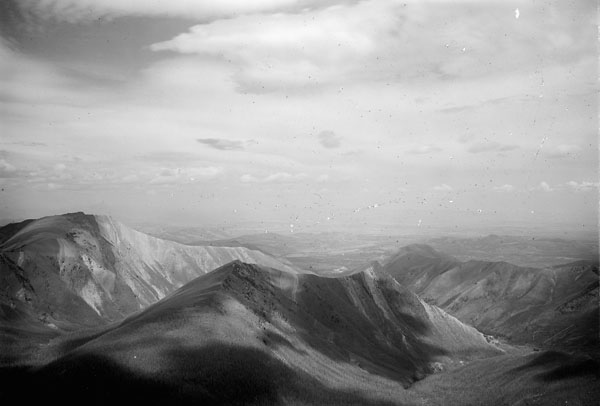 Banner image. North view at Turret Mt. Station from Crowsnest Forest Reserve Survey, AB, 1914