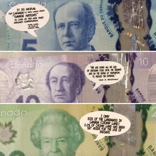 Jay Soule's Not So Funny Money Artwork. A visual depiction of the artwork being described in the paragraph next to it.