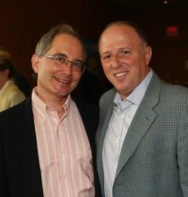 Tony Gagliano (right) and the late David Pecaut (left); co-founders of Luminato Festival Toronto.