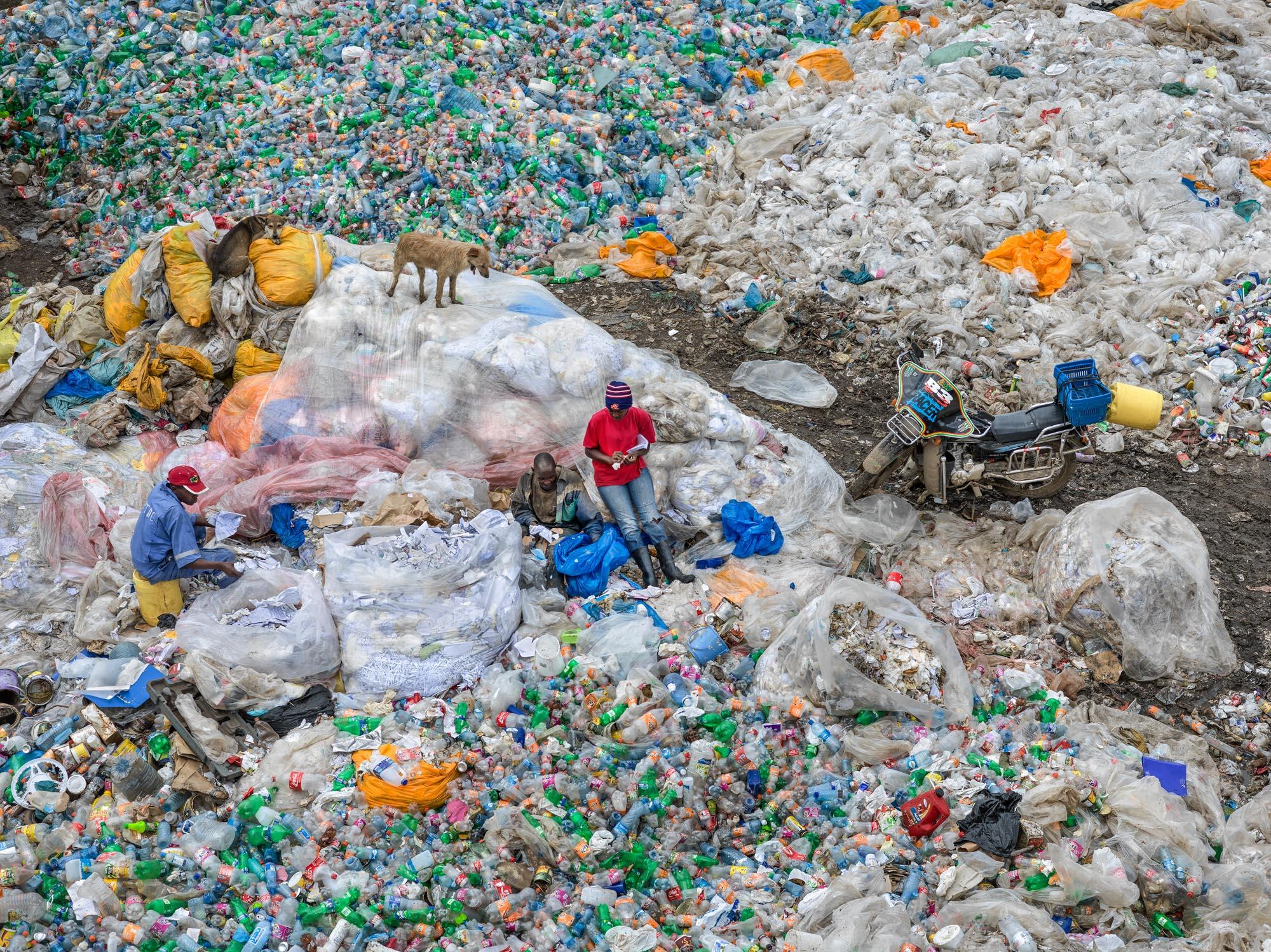 Dandora Landfill #3, Plastics Recycling, Nairobi, Kenya, 2016. Click on the audio player below to listen to the audio description.