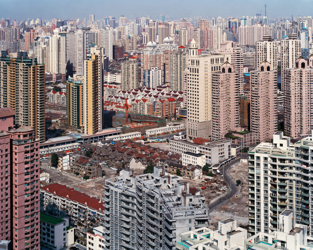 Urban Renewal #5, City Overview From Top of Military Hospital, Shanghai, China, 2004. Click on the audio player below to listen to the audio description.
