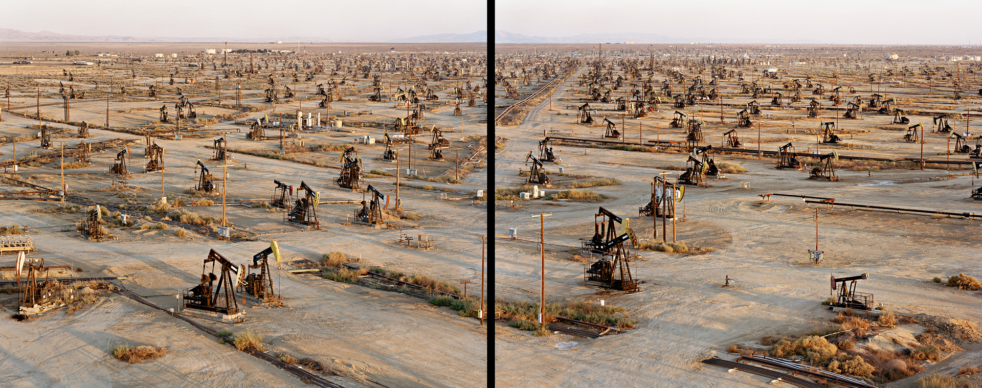 Oil Fields #19ab, Belridge, California, USA, 2003. Click on the audio player below to listen to the audio description.